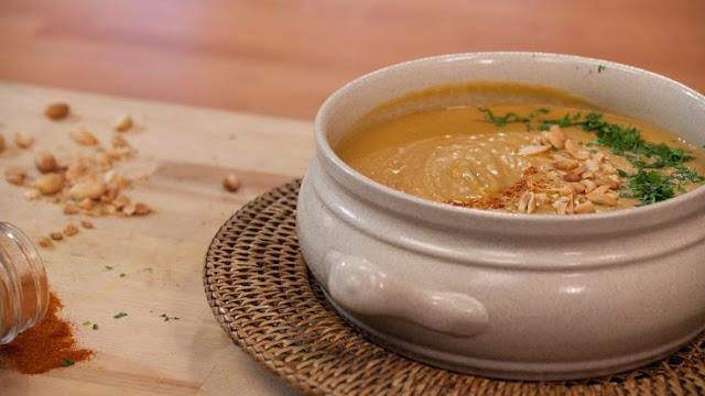 Receita de sopa de amendoim