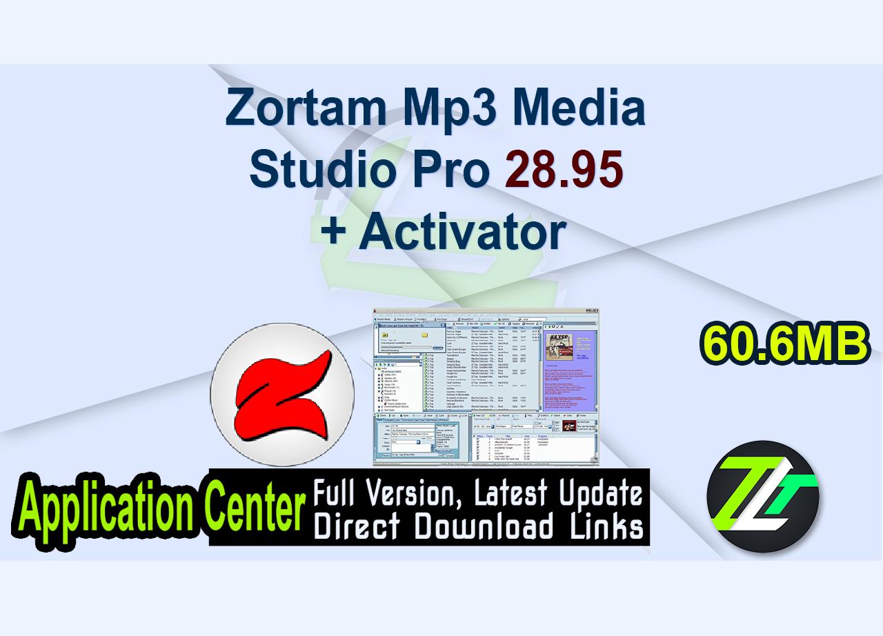 Zortam Mp3 Media Studio Pro 28.95 + Activator