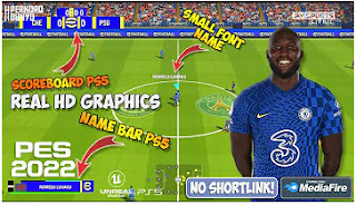 Download eFootball PES 2022 PPSSPP Chelsea Edition New Update Small Font Name & Scoreboard PS5 Graphics HD