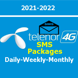 Telenor SMS packages daily, weekly and monthly list