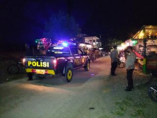 Personel Polsek Malua Galakkan Patroli Blue Light Demi Menjaga Kenyamanan Masyarakat di Malam Hari