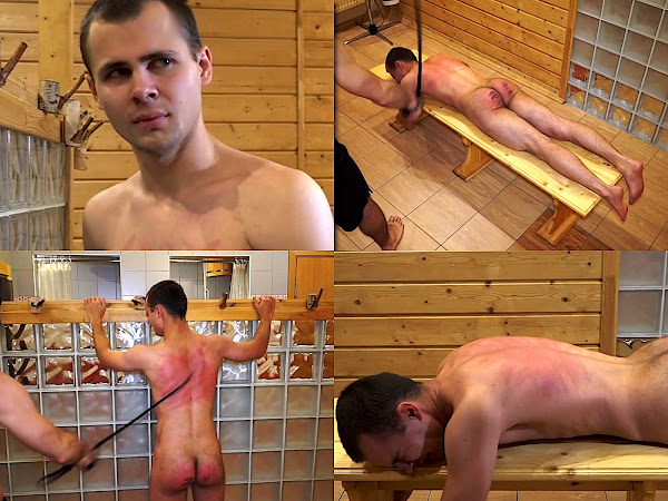 #RusStraightGuys - Boy Back whipping for Mark 19 y.o.