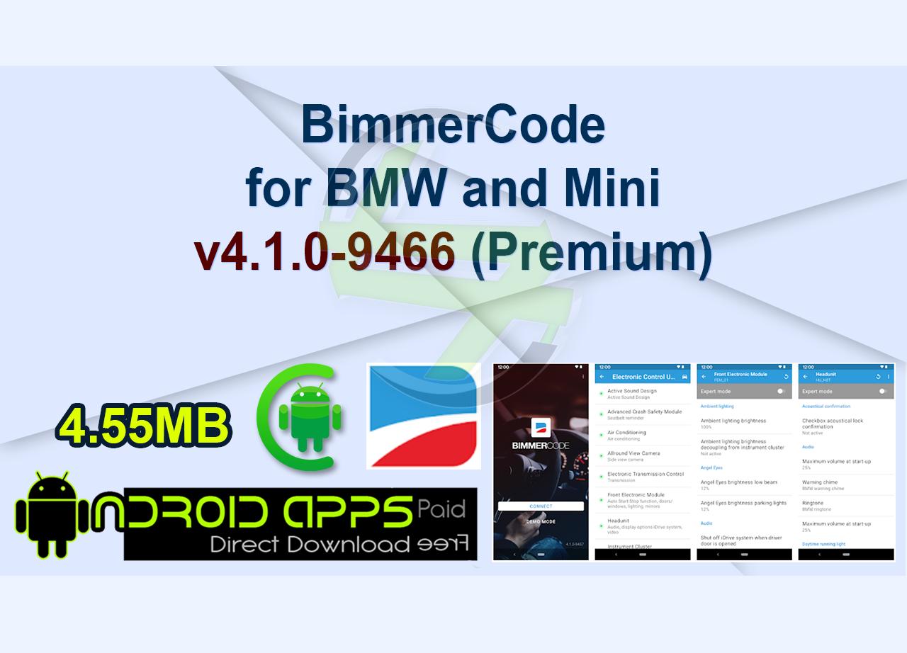 BimmerCode for BMW and Mini v4.1.0-9466 (Premium)