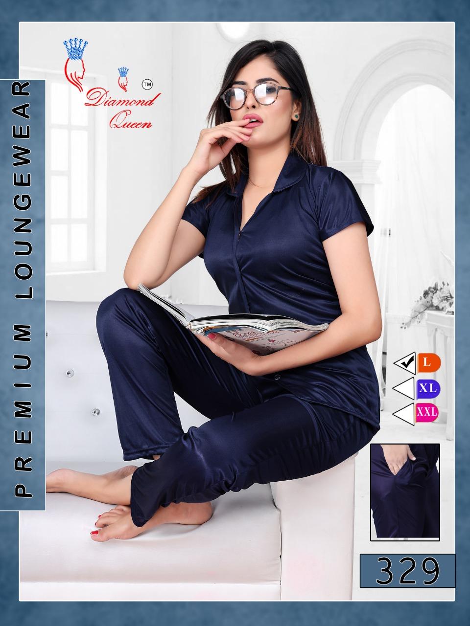 Diamond Queen Vol 329 Satin Night Suits Catalog Lowest Price
