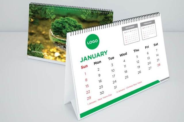 Jasa Cetak Sablon Kalender Aceh Cepat Pengerjaan