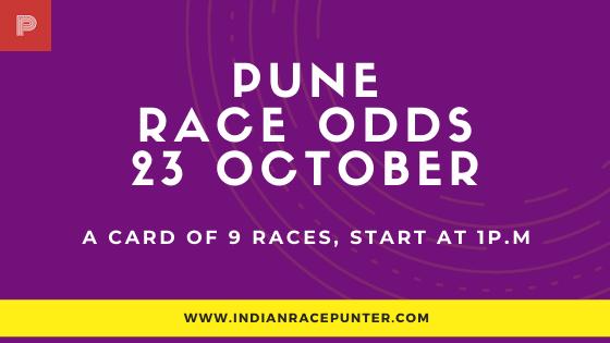 Pune Race Odds 23 October