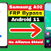 Samsung Galaxy A02 SM-A022F Android 11 FRP Bypass/Google Account Lock Bypass Alliance Shield Not Working | Without SAMHub & MagMa Tool Latest Security Patch