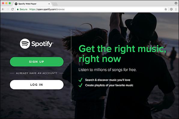Spotify web player login-1