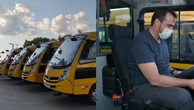 Aparecida: Educação aumenta frota de ônibus para locomoção de alunos da zona rural