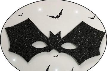 Molde máscara morcego de EVA grátis para imprimir