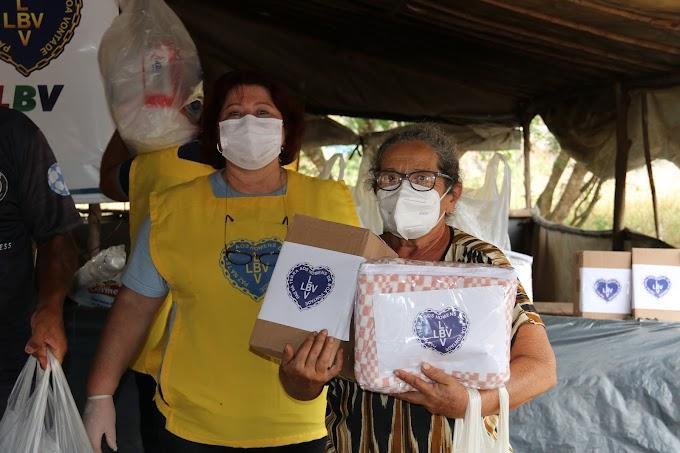 Solidariedade na zona rural de Formosa em Goiás