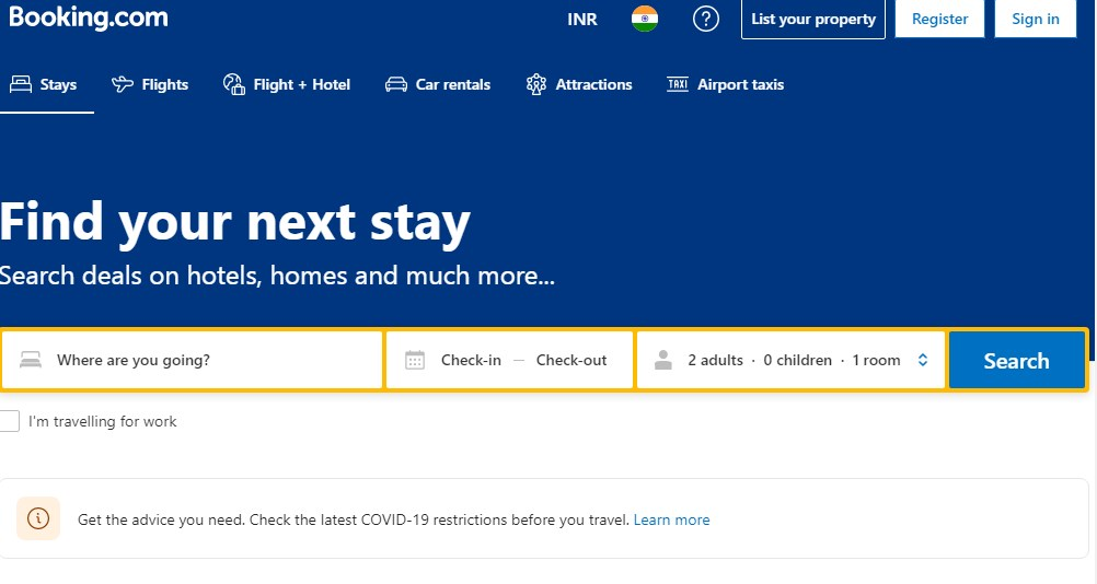 Booking.com - Best 10 Hotel Booking App In India 2021 - Techmexo.com
