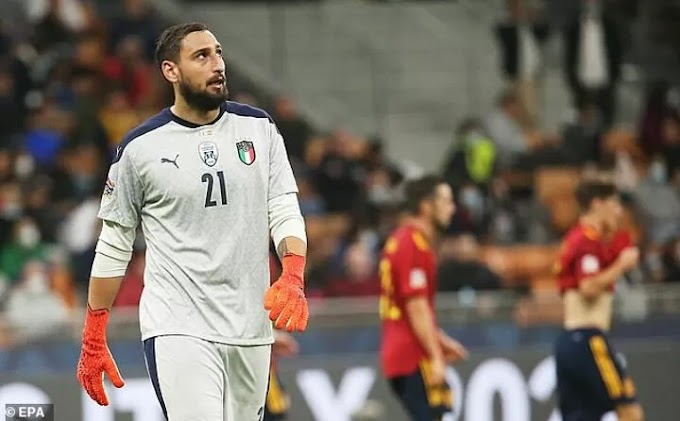 PSG Goalkeeper Donnarumma booed by his OWN fans during Italy's Nations League loss to Spain