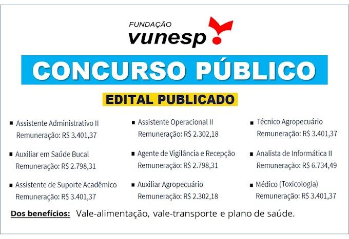UNESP abre concurso público para níveis médio e superior com salários até R$ 6.734,49; veja editais