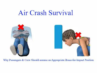 """Air Crash Survival   Why Passengers & Crew Should Assume an Appropriate """"Brace-for-Impact Position"""""""