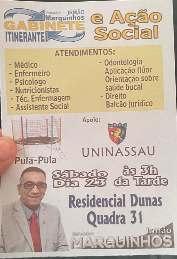 GABINETE  ITINERANTE DO VEREADOR IRMÃO MARQUINHOS