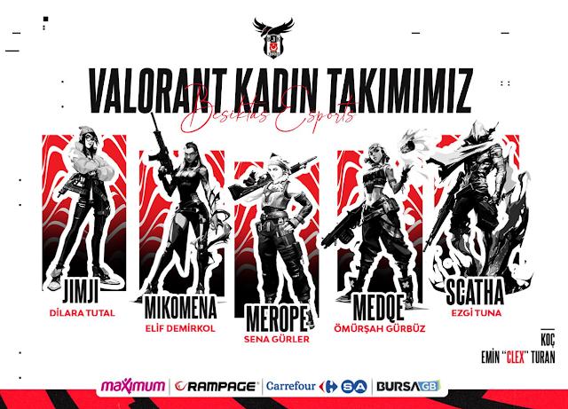 Beşiktaş Esports Kadın Valorant Kadrosunu Duyurdu!