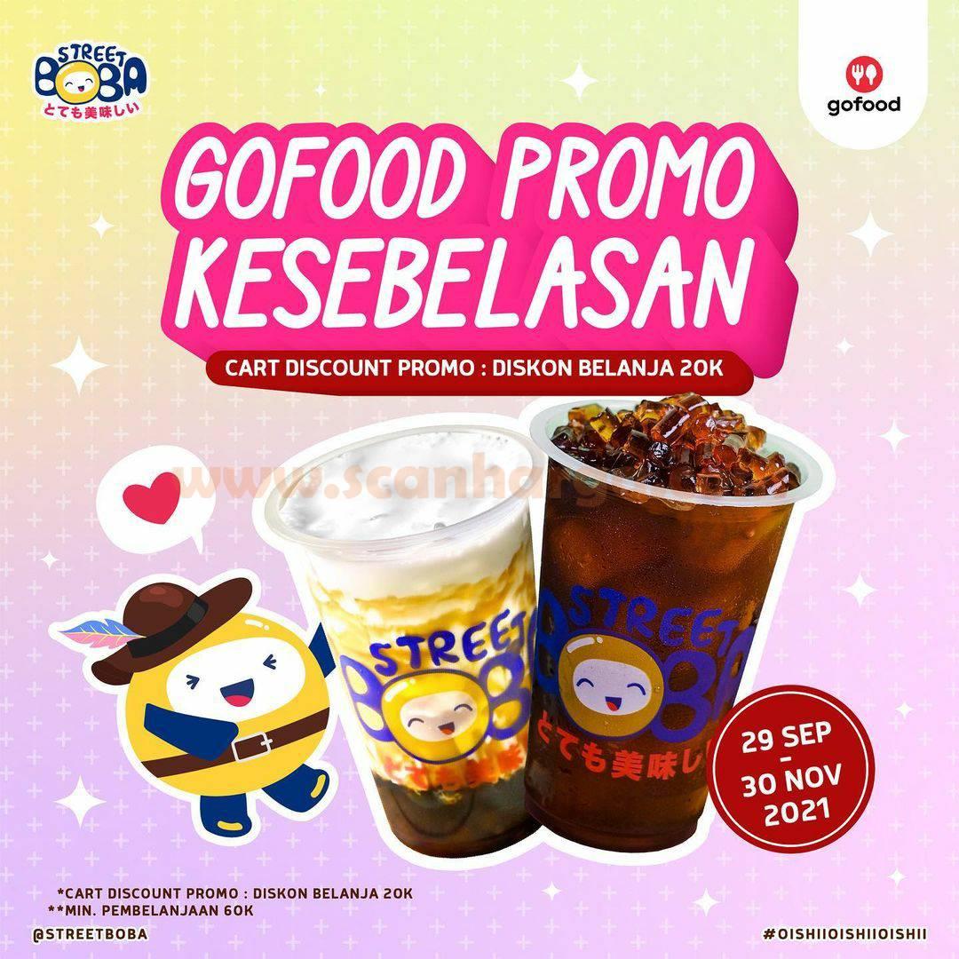 STREET BOBA Promo GOFOOD Kesebelasan Diskon Belanja Rp. 20.000