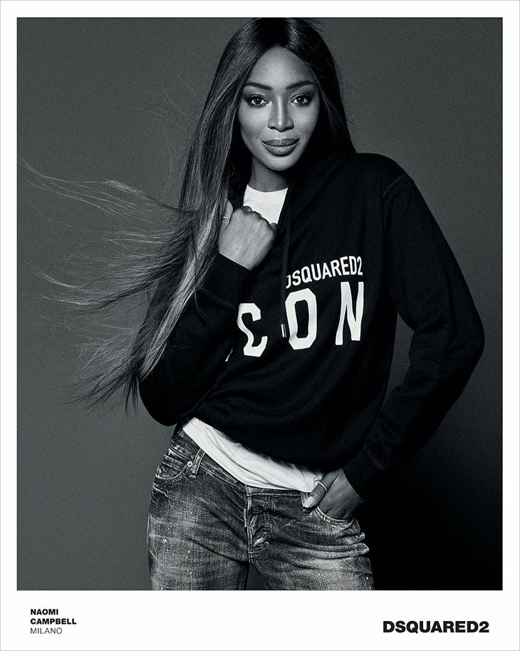 Photographer Giampaolo Sgura and supermodel Naomi Campbell team up for Dsquared2