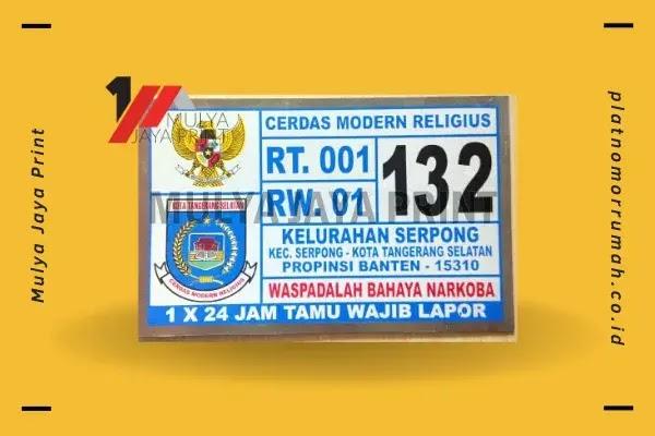 Desain Plat Nomor Rumah Serpong Tangerang Selatan