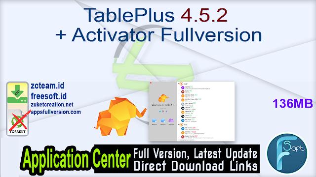 TablePlus 4.5.2 + Activator Fullversion