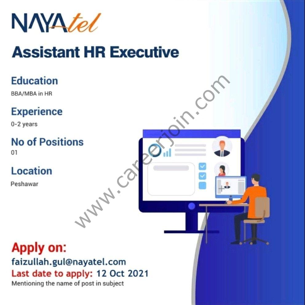 Nayatel Pakistan Jobs Assistant HR Executive