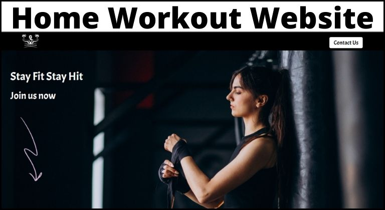 home workout website using html css source code