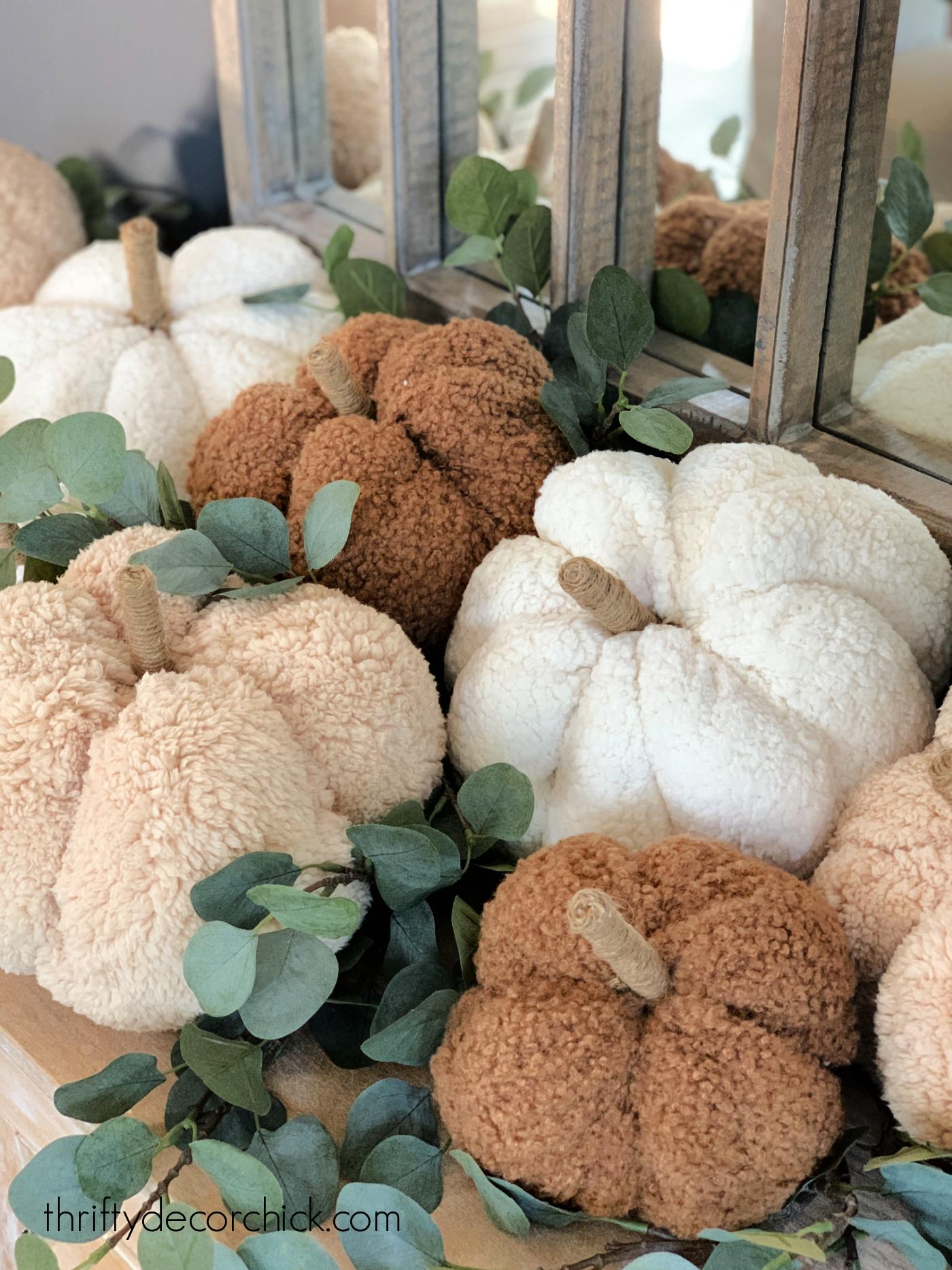 knock off Pottery Barn teddy bear pumpkins