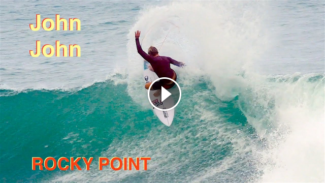 John John Florence Surfing at Rocky Point on the North Shore in Hawaii