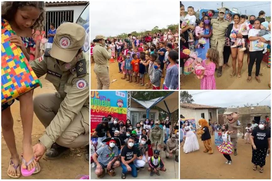 Projeto da Patrulha Solidária leva alegria e diversão para crianças em Vitória da Conquista