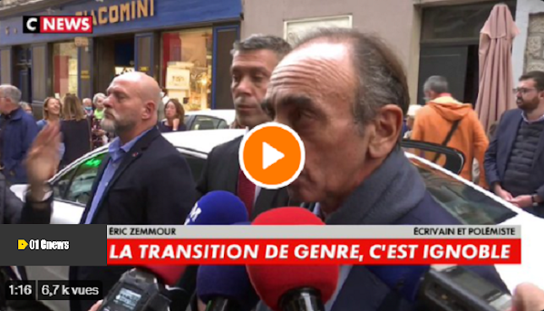 [VIDEO] E. Zemmour en Corse : «Ce que fait M.Blanquer est indigne […] Les transitions de genre, c'est ignoble»