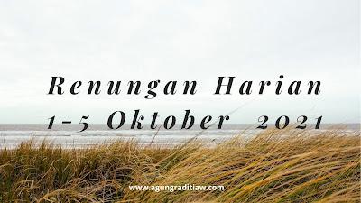 Renungan Harian Keluarga 2021 Oktober Bahan Untuk Saat Teduh Bersama