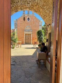 Monastery Agios Georgios, Karydi - entrance.