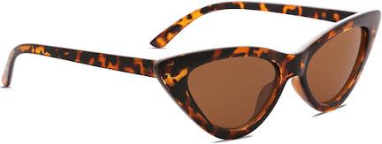 Tortoise Shell Vintage Cat Eye Sunglasses for Women