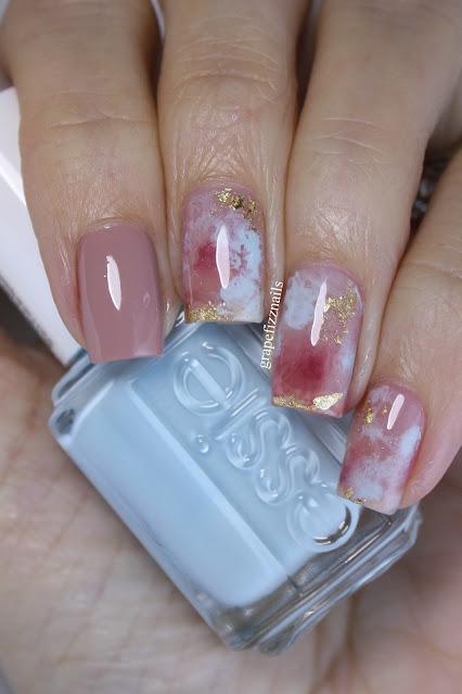 Essie Autumn Smoosh Nail Art