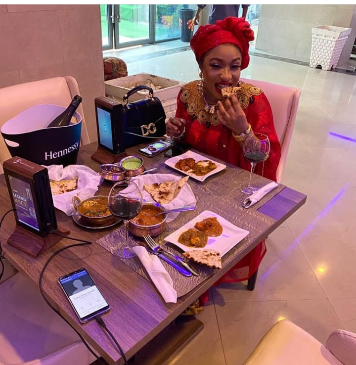 Check out 15 loved-up pictures of actress Tonto Dikeh and the man she flaunted yesterday
