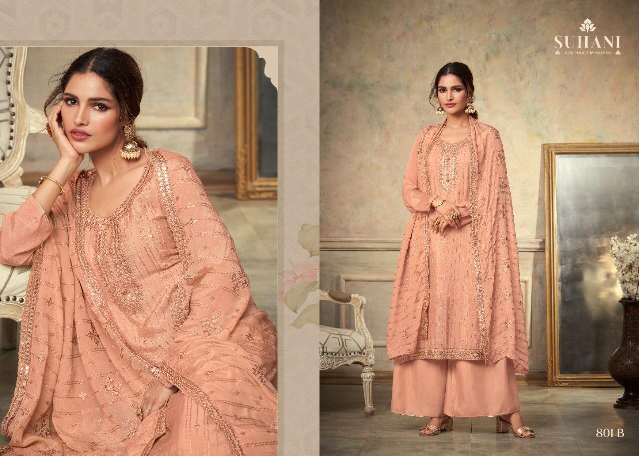 Mohini Fashion Suhani 801 Plazzo Style Suits Catalog Lowest Price