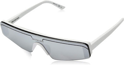 White Authentic Balenciaga Sunglasses For Women