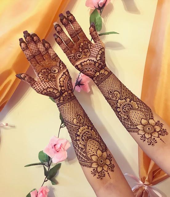 full arm Mehndi Design for Karwa Chauth 2021