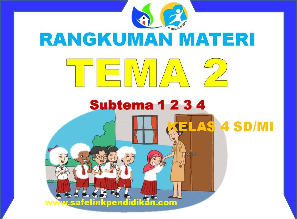 Rangkuman Materi Pembelajaran Tema 2 Kelas 4 SD/MI