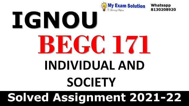 BEGC 171 Solved Assignment 2021-22