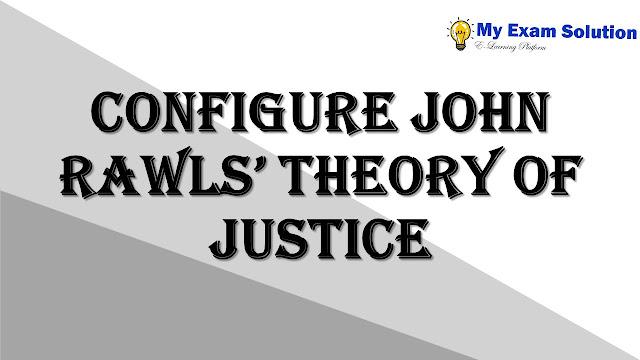 Configure John Rawls' theory of justice