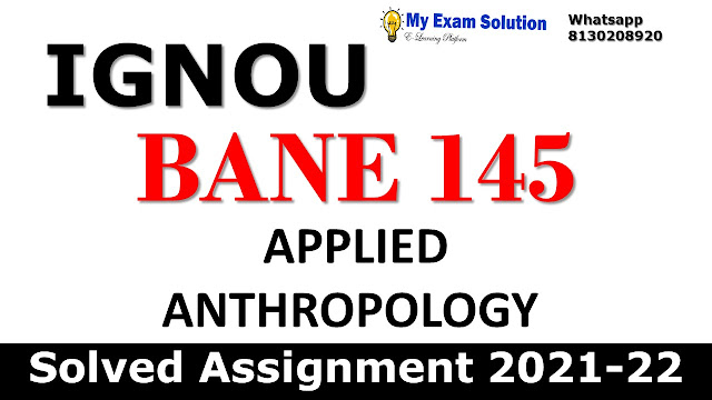 BANE 145 Solved Assignment 2021-22