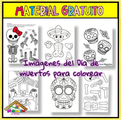dibujos de día de muertos para colorear