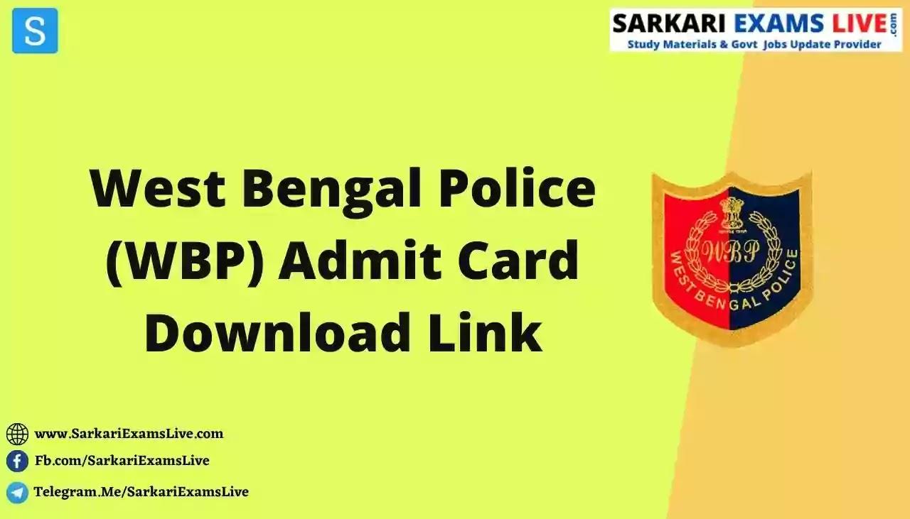 West Bengal Police Agragami PET Admit Card Link 2021