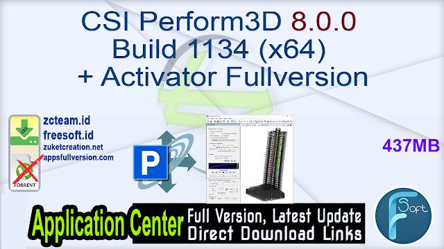 CSI Perform3D 8.0.0 Build 1134 (x64) + Activator Fullversion