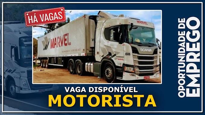 Transportadora Marvel abre vagas para motorista carreteiro