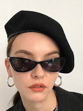 Black Retro Vintage Cat Eye Sunglasses For Women