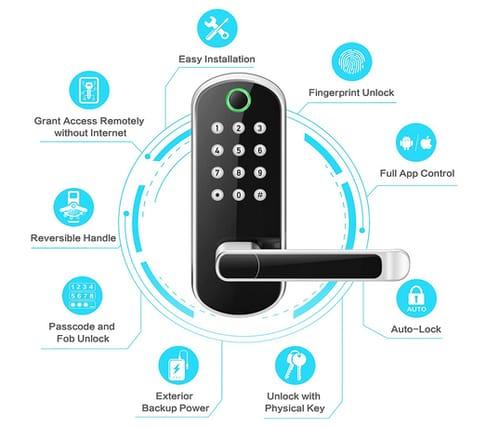 samtechT B0401 Sifely Smart Keypad Fingerprint Door Lock