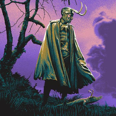"New York Comic Con 2021 Exclusive Loki ""Glorious Purpose"" Screen Print by Mark Englert x Bottleneck Gallery x Marvel"